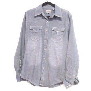 Stetson Men's NWT blue chambray shirt size medium